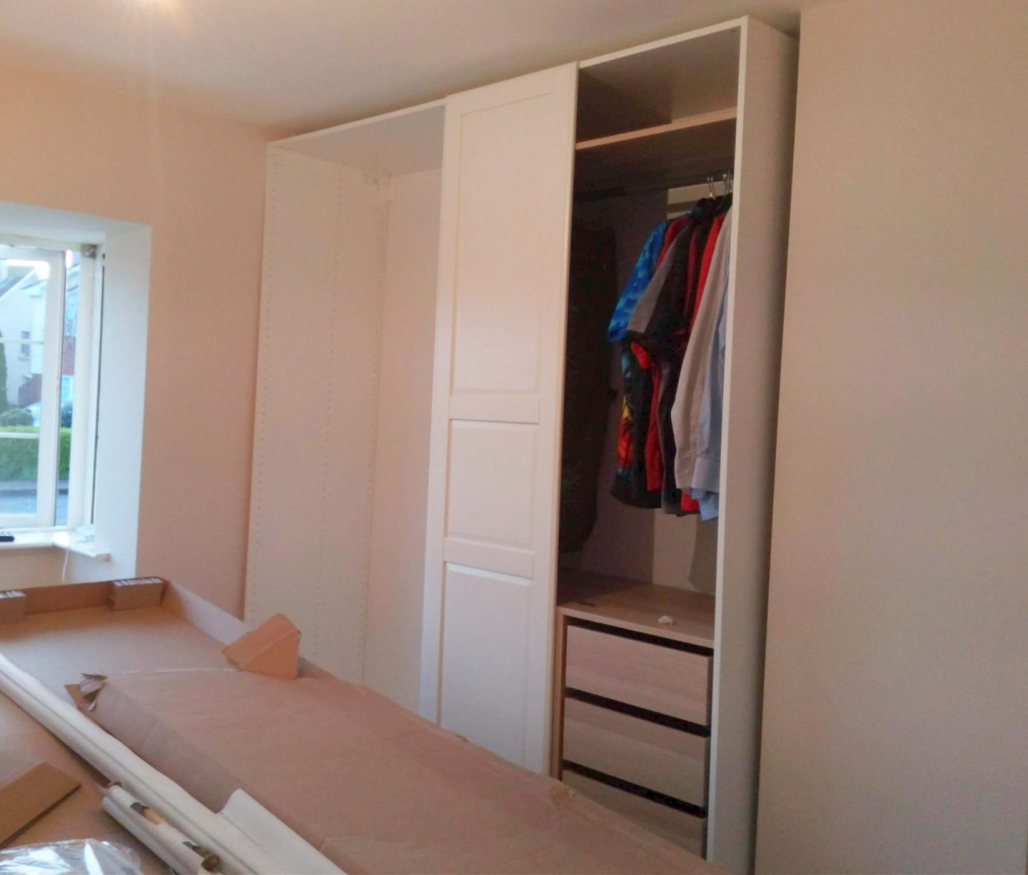 Planning and Assembling an Ikea Pax wardrobe - Our Home Obsession